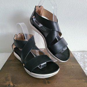 Adrienne Vittadini Claud Black Strap Sandal 7.5